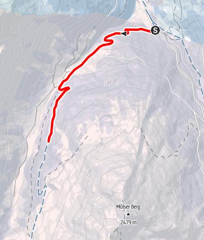 Map / Toboggan between the Malgruber and the Mölser Berg
