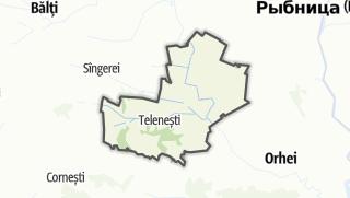 Kartta / Raionul Telenești
