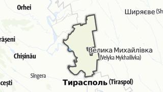 Kartta / Raionul Grigoriopol