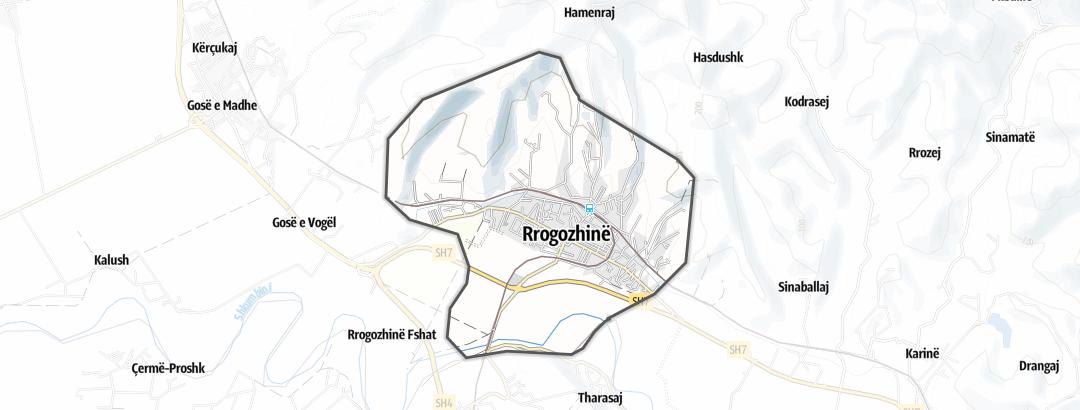 מפה / טיולים ממונעים ברחבי Rrogozhine