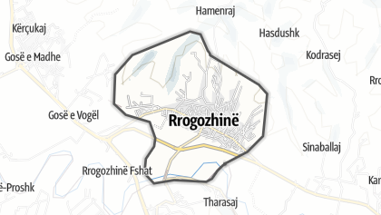 Térkép / Rrogozhine