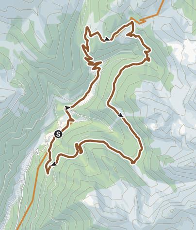 Cartina / Valsugana&Lagorai - 247 GIRO DELLA VAL CAMPELLE