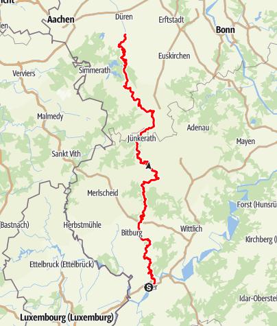 Karte / Josef-Schramm-Weg (4) - Gesamtverlauf