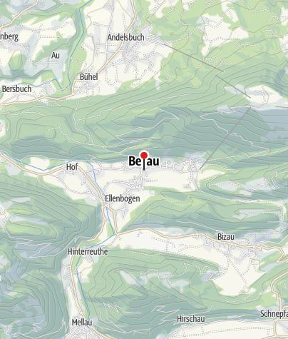 Karte / Bezau, Katholische Pfarrkirche Heiliger Jodok
