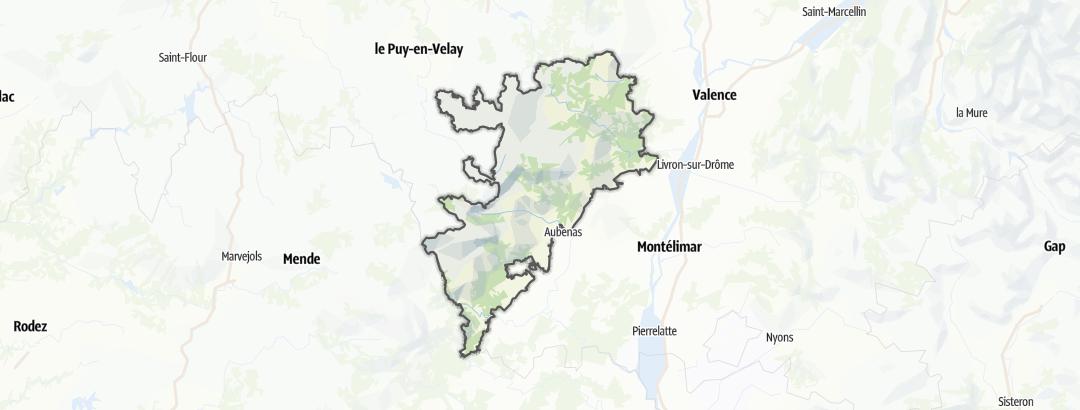 Karte / Géoparc des Monts d'Ardèche