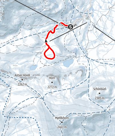 Map / Winterwanderung Glunerebene Fideriser Heuberge