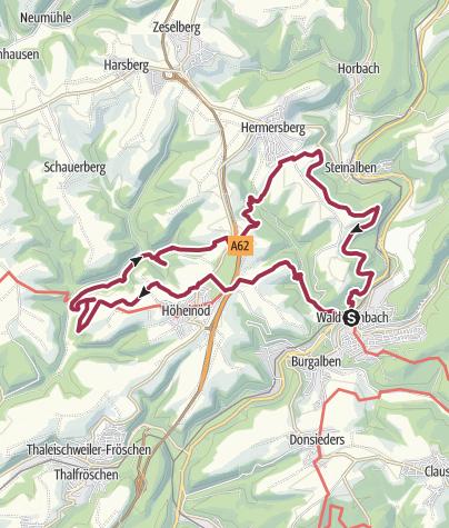 Karte / Sickinger Höhenweg