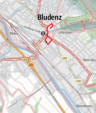 Karte / Historischer Altstadtrundgang   Bludenz