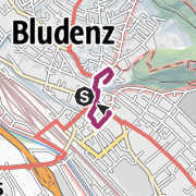 Map / Historical tour of the old town   Bludenz