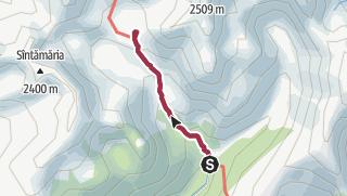 Hartă / Drumeție în Retezat, de la Poiana Pelegii la lacul glaciar Bucura