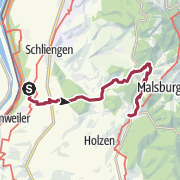 Karte / Interregio-Wanderweg Etappe 2: Bad Bellingen – Kandern