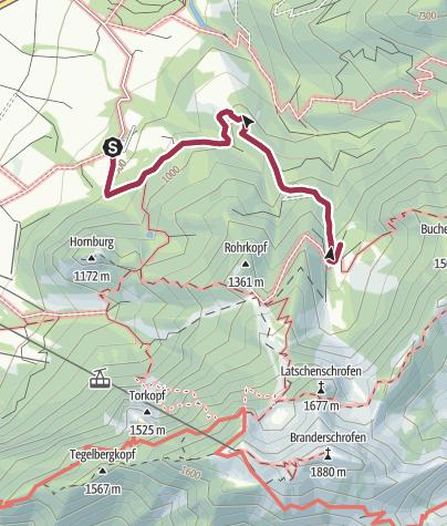 Map / Wanderung zur Drehhütte