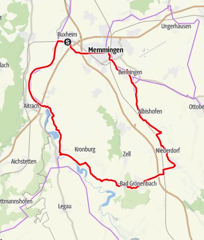 Karte / Aktiv Park Tour West - Abkürzung Bad Grönenbach