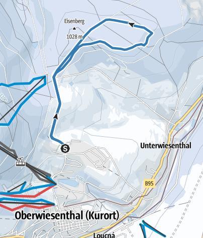 Karte / Kreuzbrückfelsenloipe L1