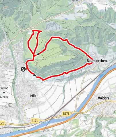 Karte / Baumkirchner Waldrunde