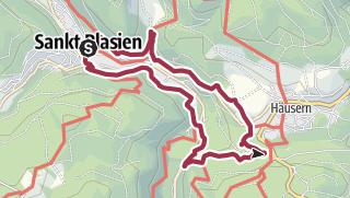 Karte / Von Sankt Blasien zum Albsee und Windbergwasserfall