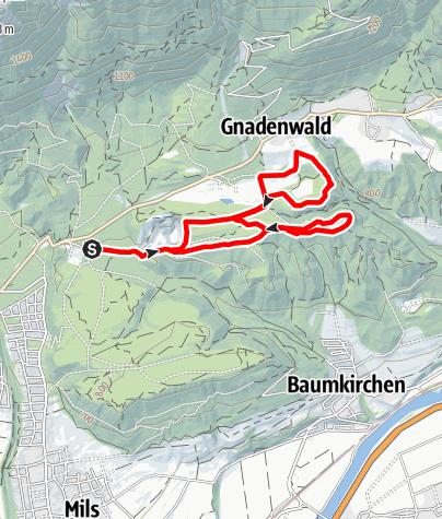 Karte / Gnadenwaldrunde