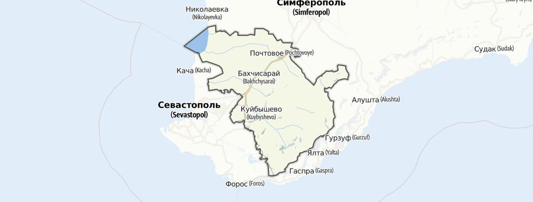 地图 / 在Бахчисарайський район里的徒步