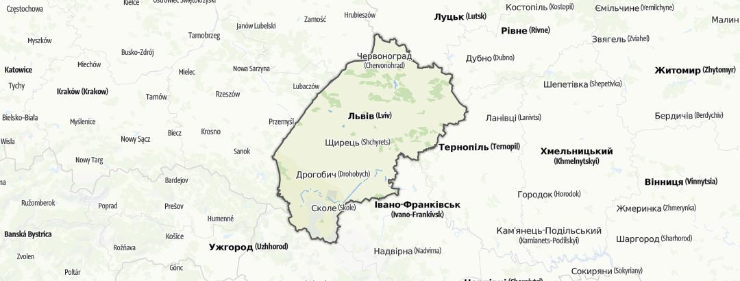 מפה / Львівська область