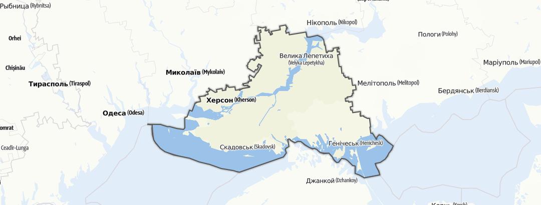 מפה / Херсонська область
