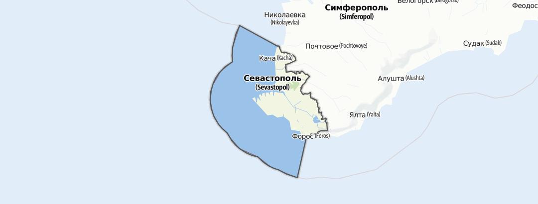 地图 / 在Севастополь里的徒步