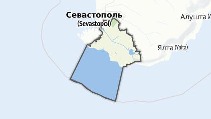 Mapa / Балаклавський район (Севастополь)
