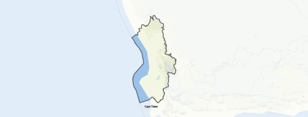 Kart / Fotturer i West Coast