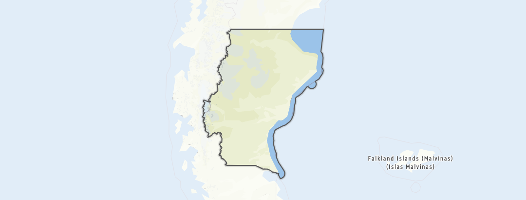Mapa / Horolezectví v oblasti Santa Cruz