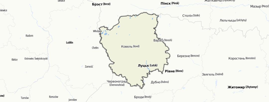 מפה / Волинська область