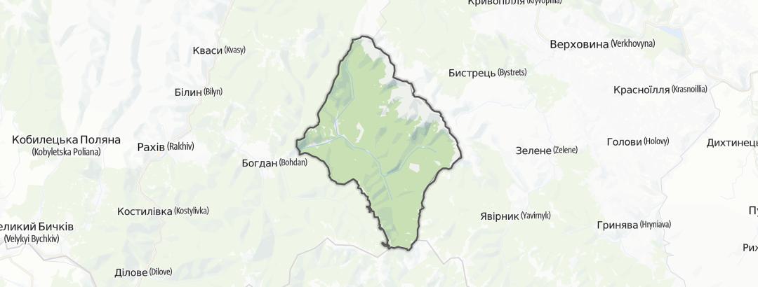 Mapa / Trilhas de Montanha em Лугівська сільська рада