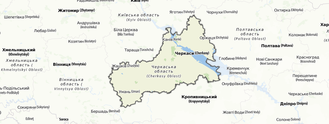 מפה / Черкаська область