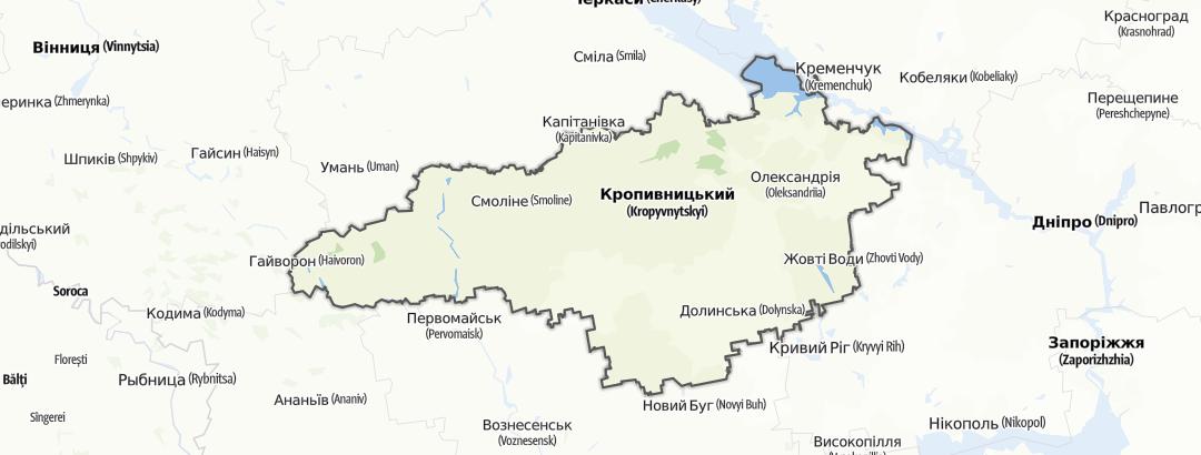 מפה / Кіровоградська область
