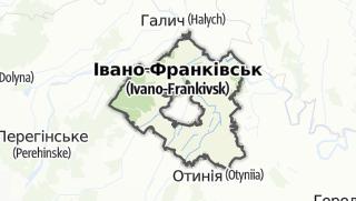 Mapa / Тисменицький район