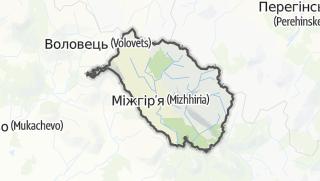 Mapa / Міжгірський район