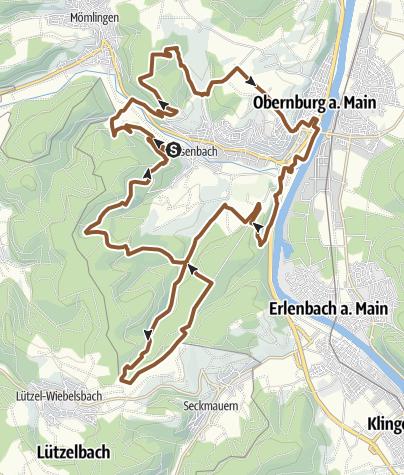 "Karte / Rundstrecke Obernburg - Eisenbach ""Ei1"""