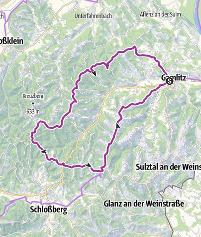 Karte / Weinstraßentour Variante 3