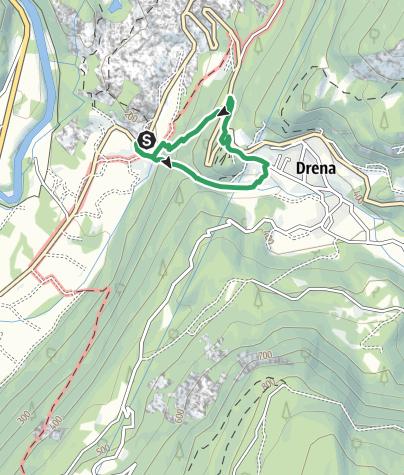 Karte / Via Ferrata Rio Sallagoni (derzeit gesperrt)