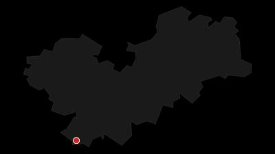 Karte / Kammloipe - Teilabschnitt bei Carlsfeld