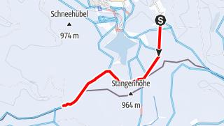 Map / Kammloipe - Teilabschnitt bei Carlsfeld