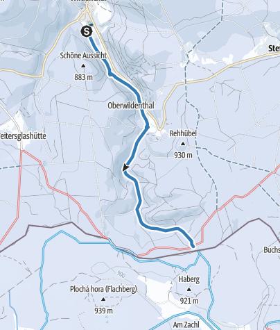 Map / Amselpfad-Loipe Wildenthal