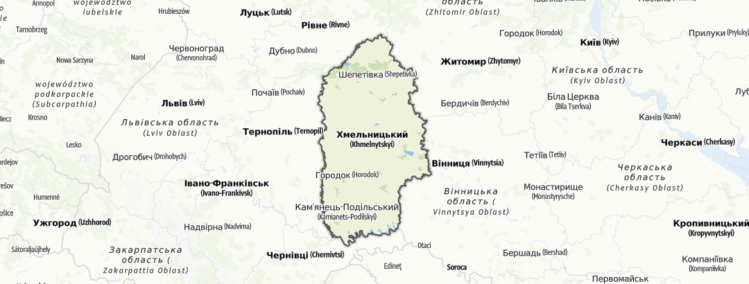 מפה / Хмельницька область