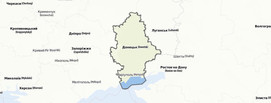 מפה / Донецька область