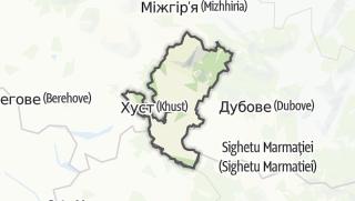 Mapa / Хустський район