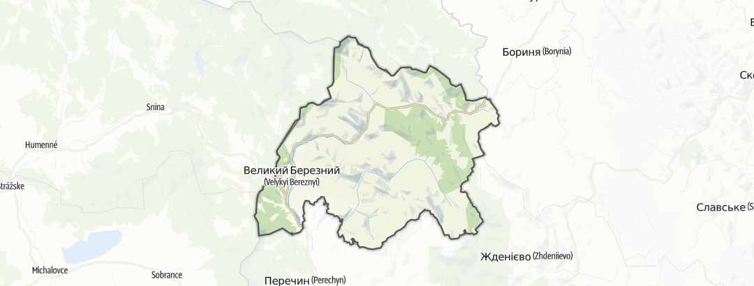Карта / Великоберезнянський район