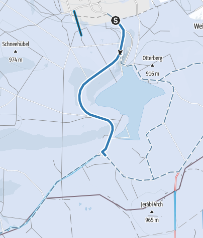 Map / Zubringerloipe 2 zur Kammloipe in Carlsfeld