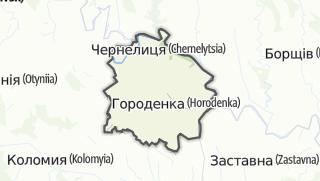 Mapa / Городенківський район