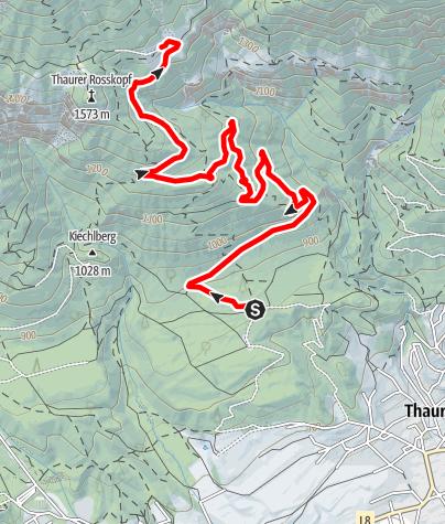 Karte / Berglaufstrecke Thaurer Alm
