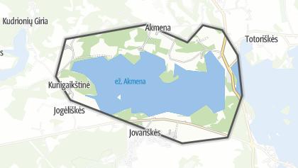Mapa / ež. Akmena