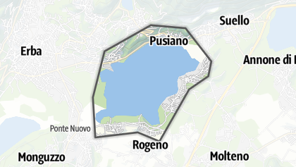 Mapa / Lake of Pusiano