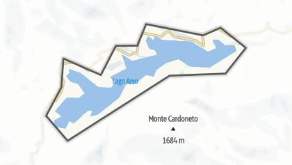 Mapa / Lago Arvo